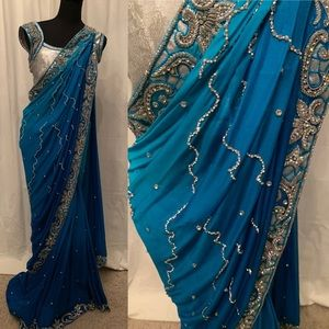 Dresses & Skirts - Shades of blue saree